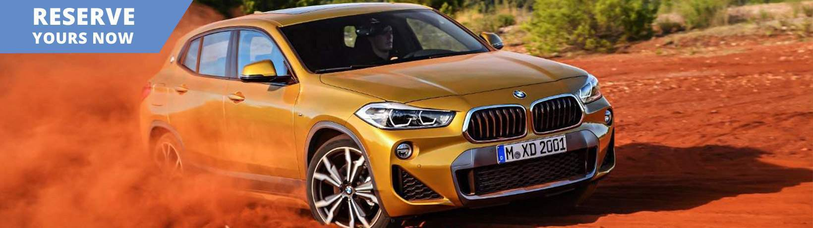 2018 BMW X2 driving in red dirt