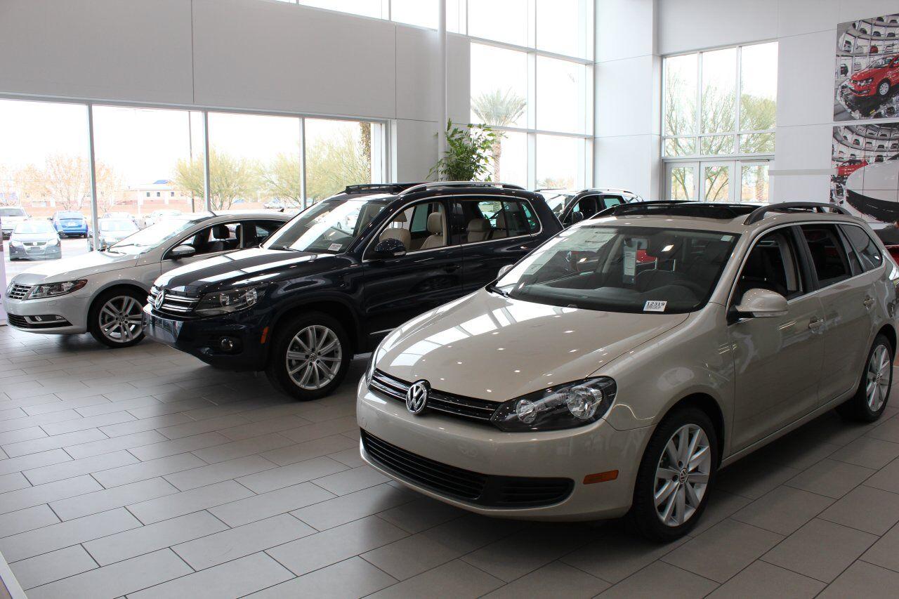 Brand new VW Golf GTI in the Showroom