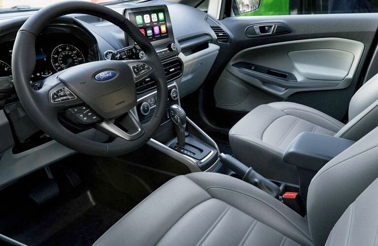 2018 Ford EcoSport interior steering wheel and front seats