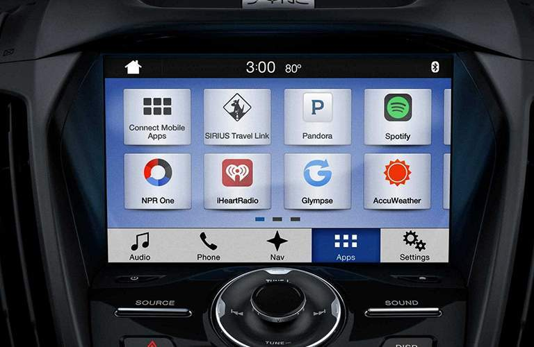 2018 Ford Escape SYNC 3 display close up