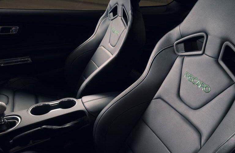 Closeup View of Recaro Seats in 2019 Ford Mustang BULLITT
