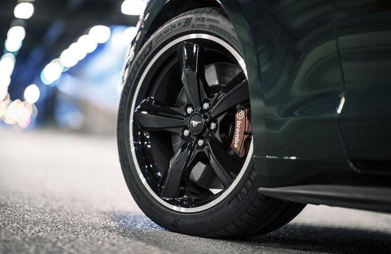 Closeup of Wheel on 2019 Ford Mustang BULLITT
