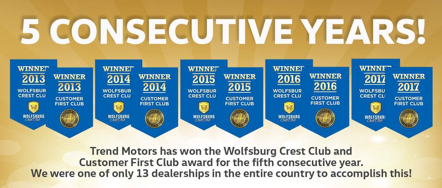 Awards and accolades trend motors volkswagen for Trend motors rockaway nj