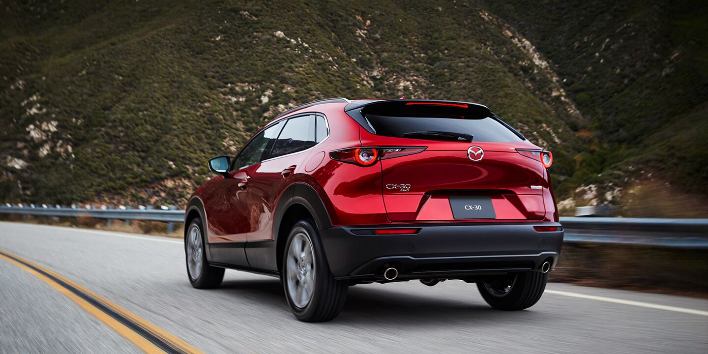 2020 Mazda CX-30 driving down the highway