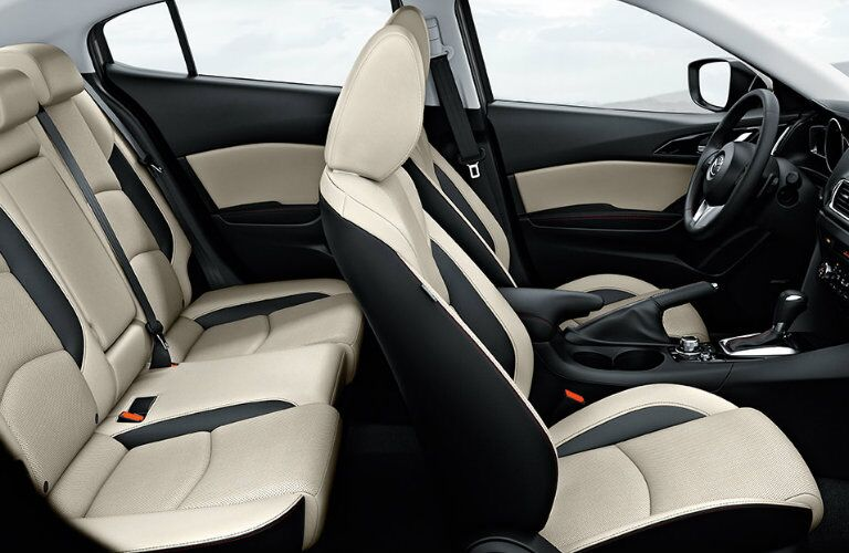 2016 mazda3 with two tone parchment seat colors