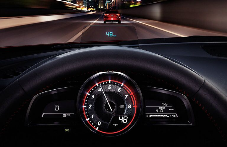 2016 mazda3 with active driving display