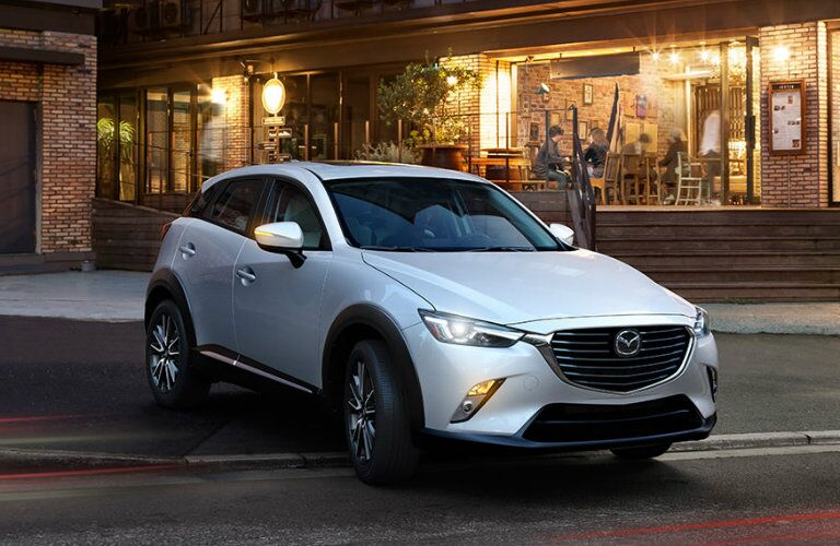 2016 mazda cx-3 in a white paint color