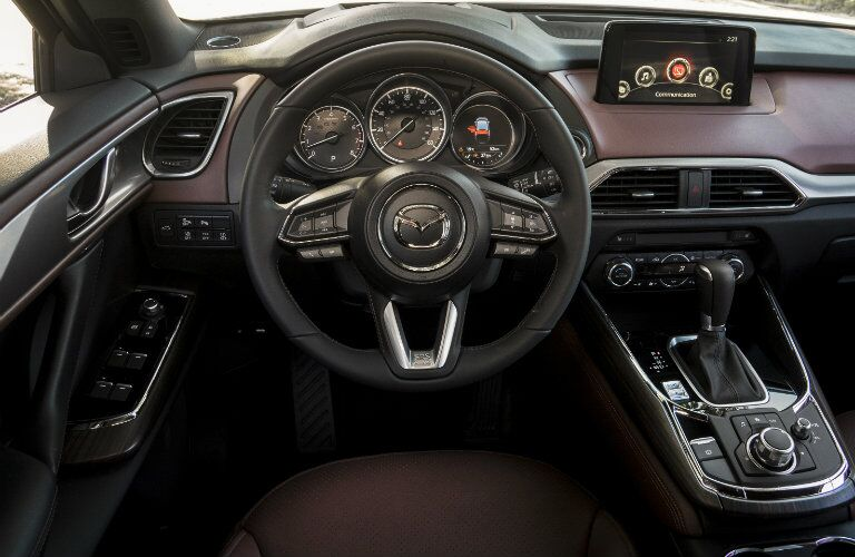 new dashboard interior design in the 2016 mazda cx-9