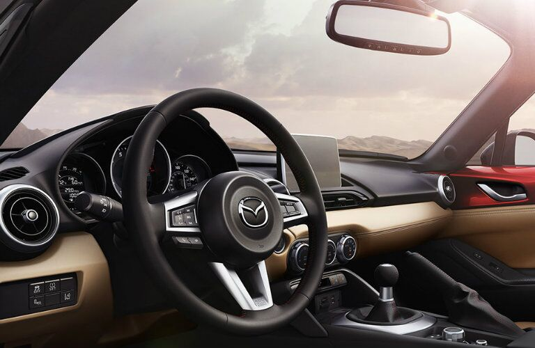 2016 mazda mx-5 miata interior design with tan interior