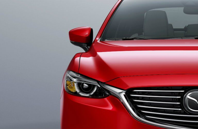 Front View of Red 2017.5 Mazda6