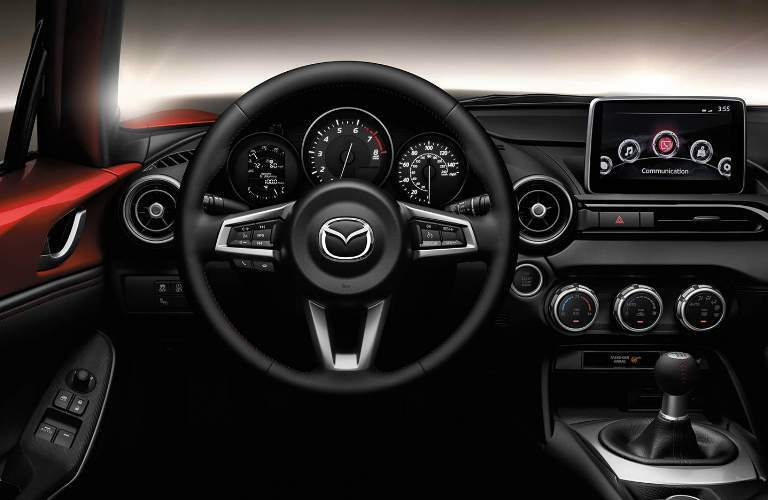 2018 Mazda MX-5 Miata Soft Top Steering Wheel, Gauges and Touchscreen