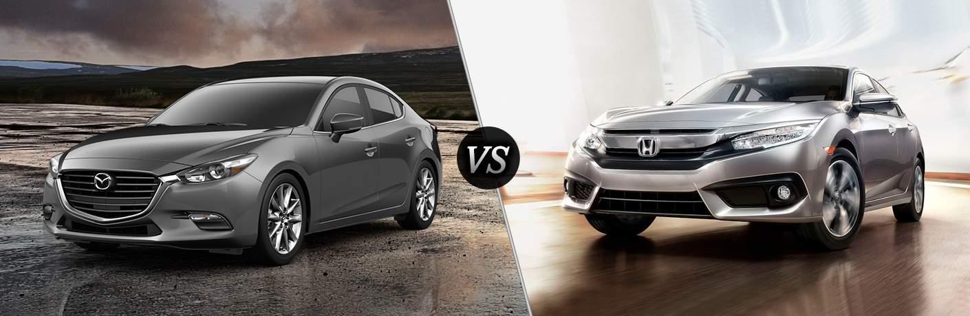 Honda Dealership Orange County >> 2018 Mazda3 vs 2017 Honda Civic