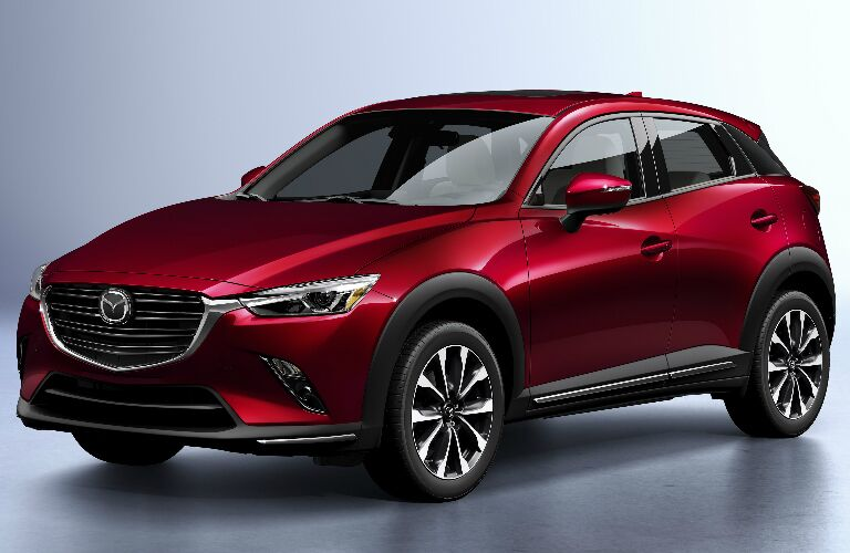 Front View of Maroon 2019 Mazda CX-3