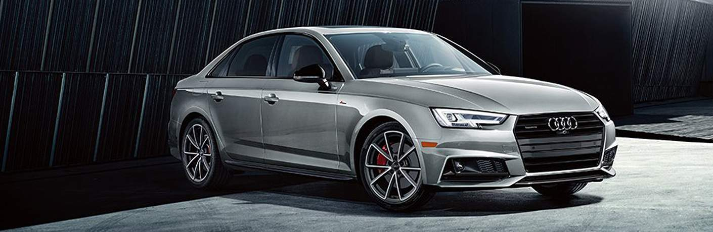 side view of 2018 Audi A4 parked