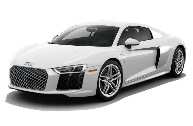 white Audi R8 with white background