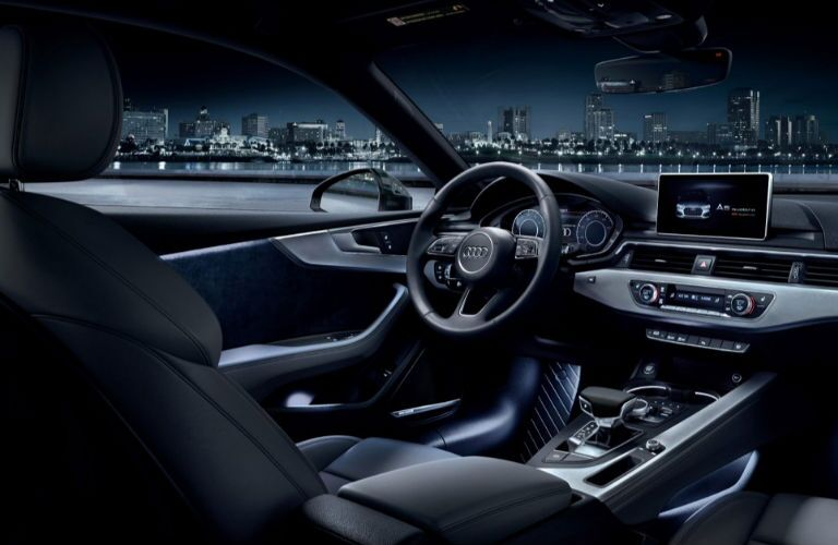 2018 Audi A5 Cabriolet dashboard and front seating