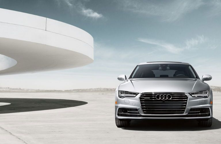 2018 Audi A7 front in gray