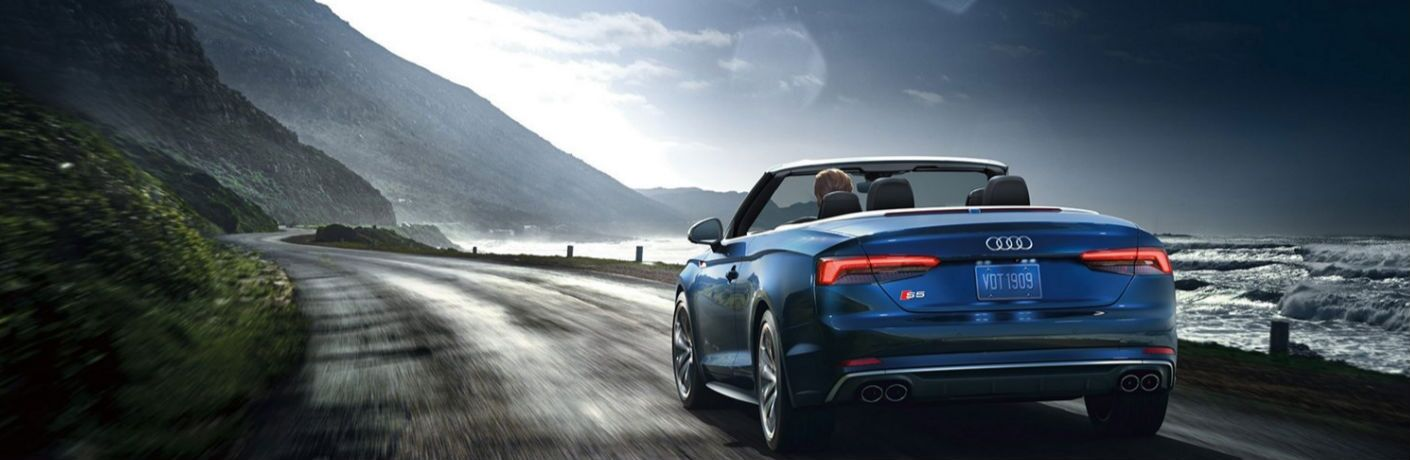 2018 Audi S5 Cabriolet rear in blue