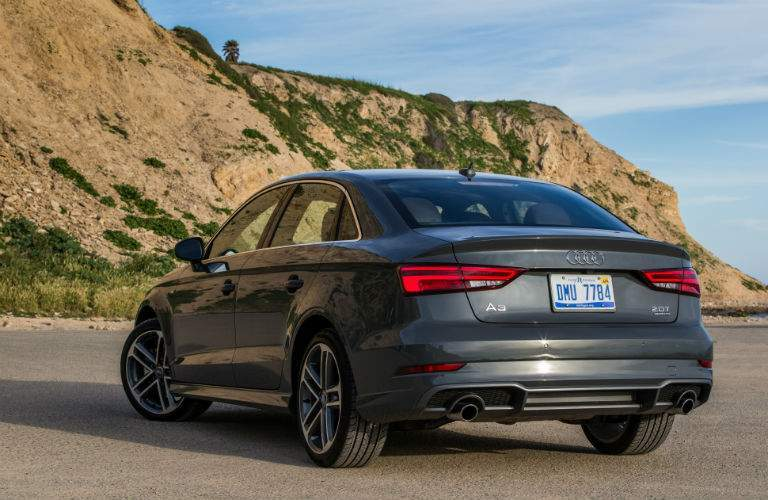 2018 audi a3 rear bumper and trunk view car is on a beach in philadelphia pa
