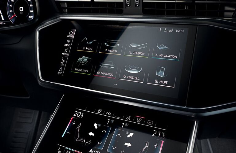 Infotainment system in the 2019 Audi A7