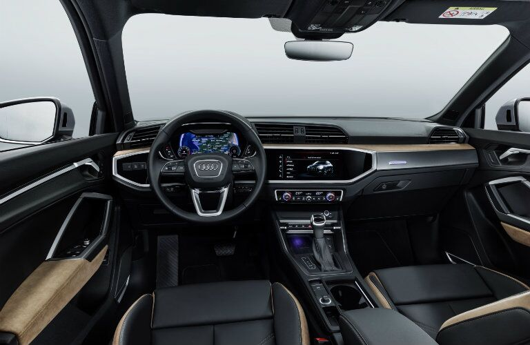 dashboard and steering wheel in 2019 Audi Q3