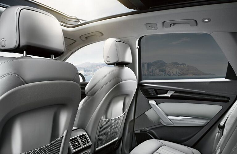 Rear row of seating inside 2019 Audi Q5