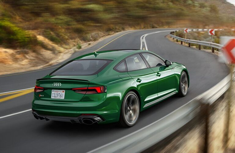 2019 Audi RS 5 Sportback rear in green