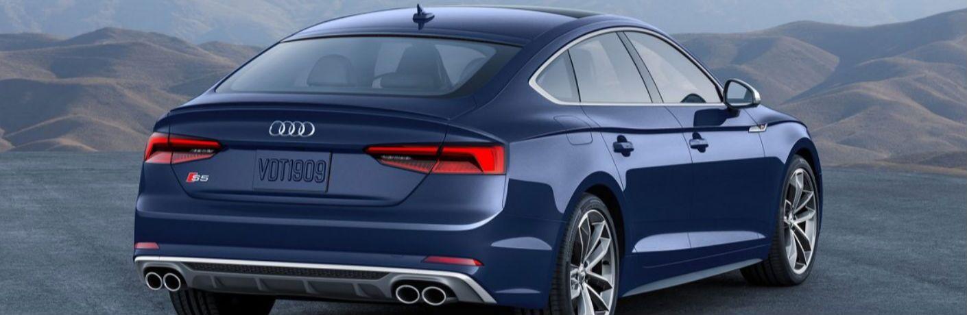 2019 Audi S5 rear in blue