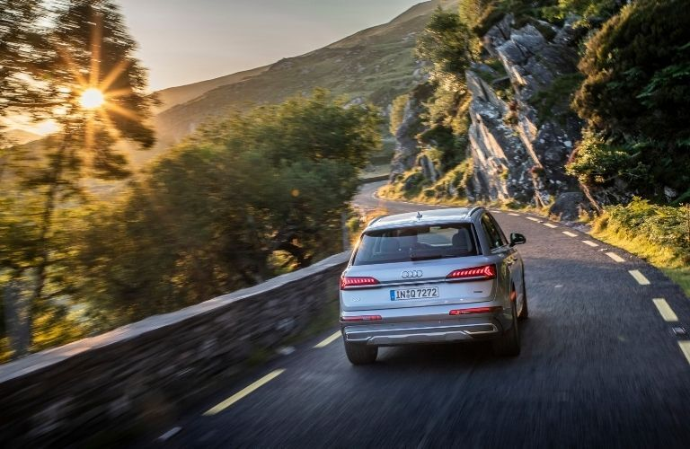 2020 Q7 driving on mountain road