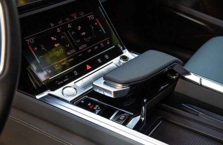 2020 e-tron center console showcase