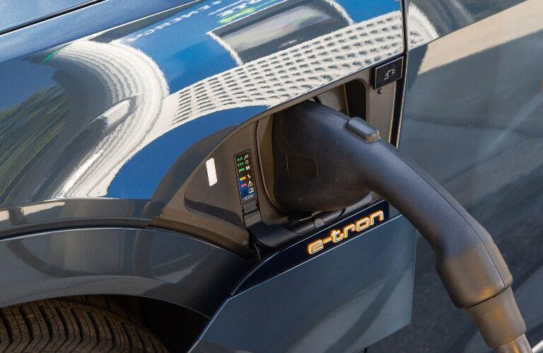 2020 e-tron charger close-up