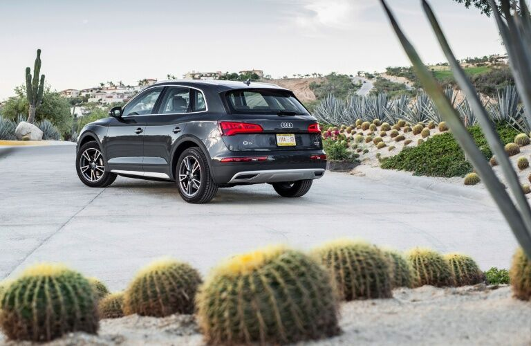 2020 Q5 parked on asphalt rear view