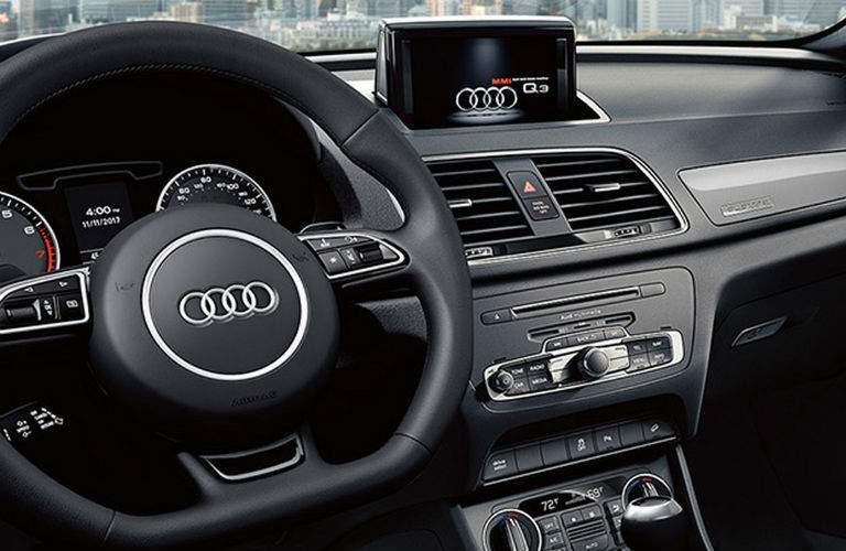 2018 Audi Q3 Interior Steering wheel infotainment console shift dashboard wynnewood_o