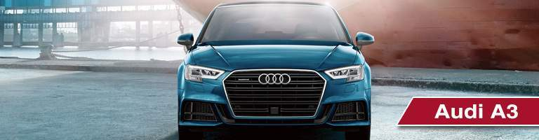 light blue audi a3