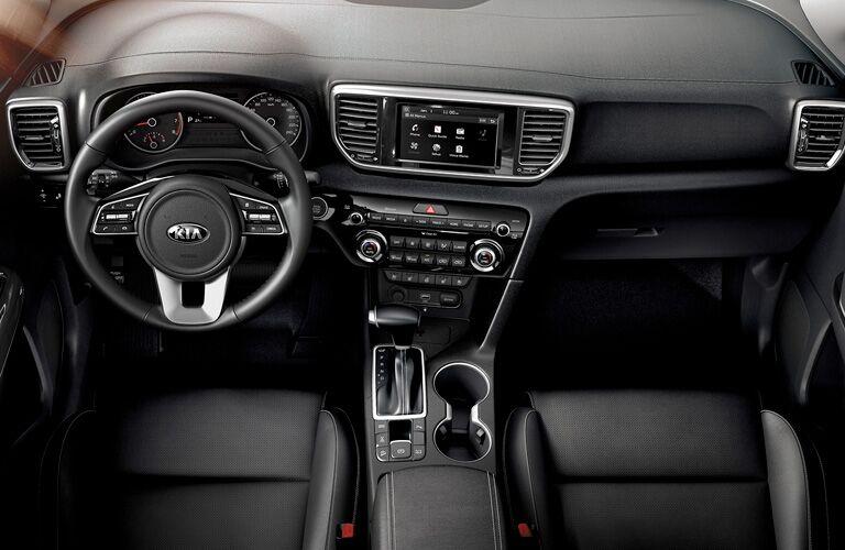2020 Kia Sportage black front seat