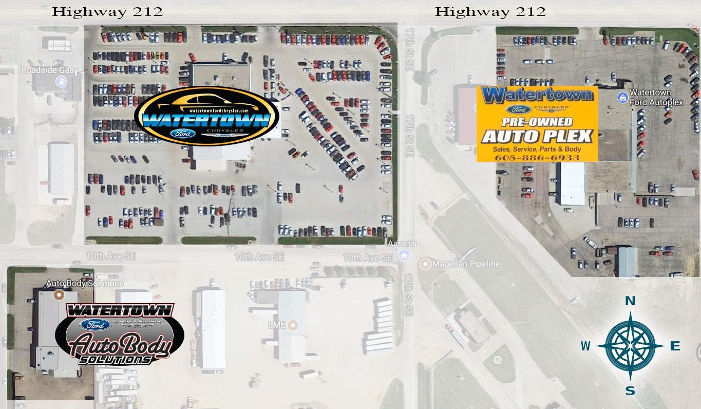 Watertown Auto Body Solutions Map