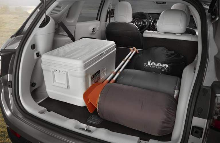 2018 Jeep Compass cargo room with one seat folded down