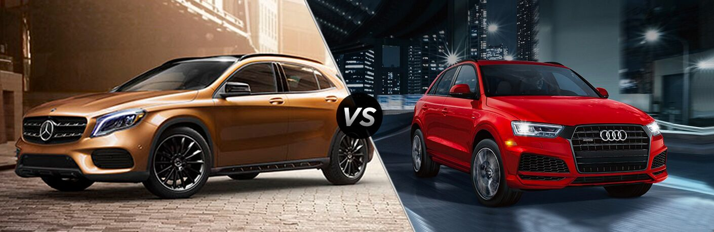 2018 Mercedes-Benz GLA vs 2018 Audi Q3 in red