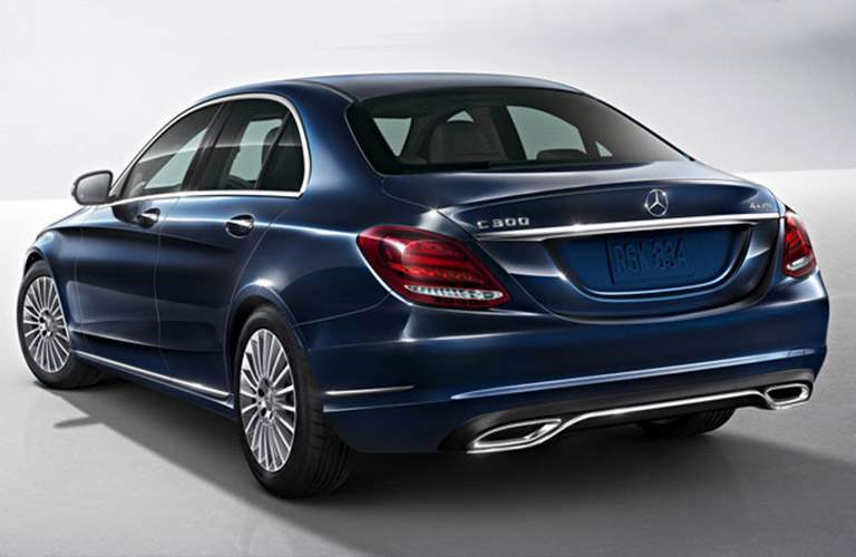 2018 Mercedes-Benz C 300 Sedan in blu rear view