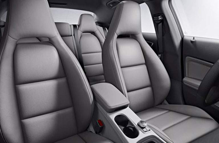 gray seating inside 2018 Mercedes-Benz CLA