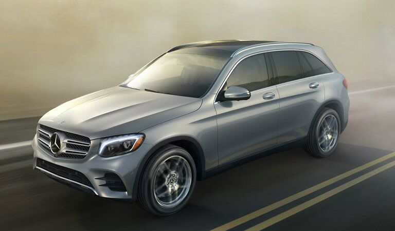 side view of a 2018 Mercedes-Benz GLC on the road