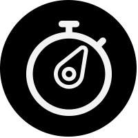black stop watch icon