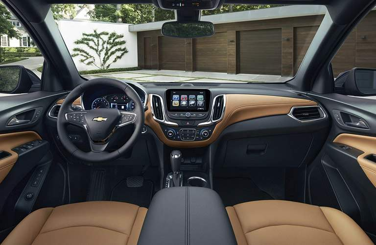 View of the front seats of the 2018 Chevy Equinox