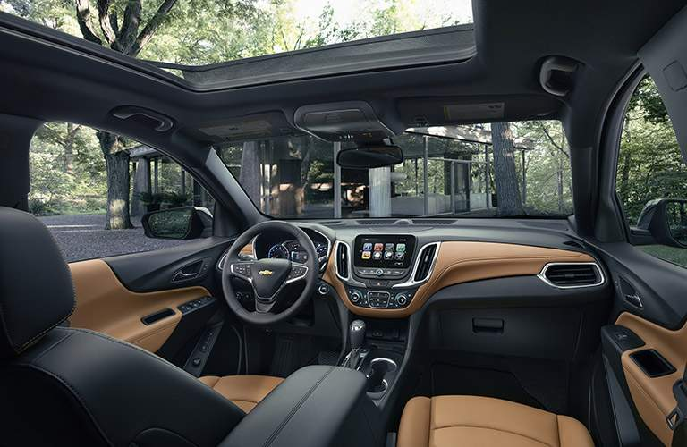 View of the 2018 Chevy Equinox from the front seats out