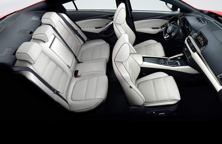 mazda6 seating, white interior