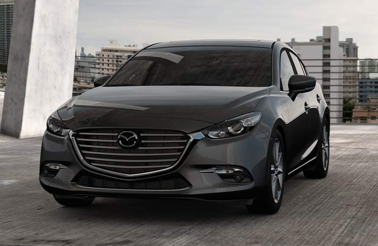 front view, grille or dark gray mazda3