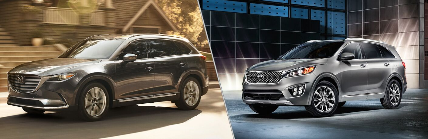 mazda cx-9 compared to kia sorento