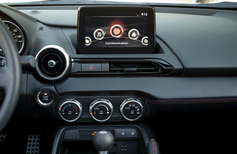 touchscreen inside of mazda mx-5 miata