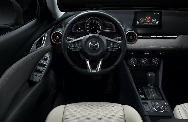 Mazda CX-3 steering wheel, dash