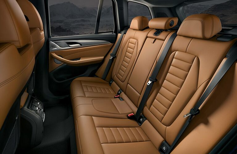 Rear row of seats inside 2019 BMW X3